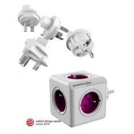 Powercube ReWirable + Travel Plugs - fialový fialový