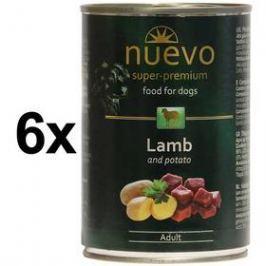 Nuevo Dog Adult jehněčí 6 x 400g