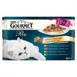 Gourmet Perle Duo masové Multipack (3+1 zdarma 85g)