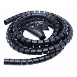 Trubice pro kabely Connect IT WINDER, 2,5m x 20mm - černý (CI-514)