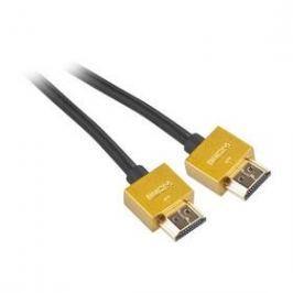 GoGEN HDMI 1.4, 3m, pozlacený, High speed, s ethernetem (GOGHDMI300MM03) černý
