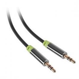 GoGEN Jack 3,5mm, 3m, pozlacené konektory (GOGJACK300MM01) černý