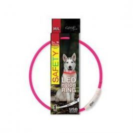 Dog Fantasy LED nylonový M/L růžový