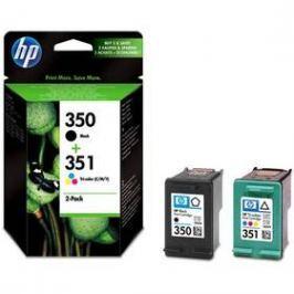 HP No. 350 + 351, 200 stran - originální (SD412EE) černá