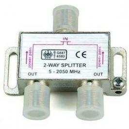 Rozbočovač AQ Satelitní anténní 1x vstup - 2x výstup, F konektory (xaqcva312)
