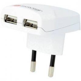 SKROSS pro použití v Evropě pro 2 USB (DC10) bílý