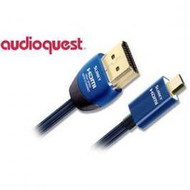 AQ Slinky HDMI / micro HDMI, 2m (qslinkyhdmimc0020) modrý