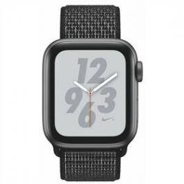 Apple Watch Nike+ Series 4 GPS 40mm pouzdro z vesmírně šedého hliníku - černý provlékací sportovní řemínek Nike (MU7G2HC/A)