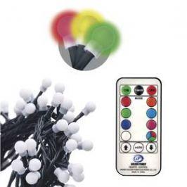 EMOS 96 LED 10m, řetěz – kuličky, červ./zel./mod., ovladač, programy (1534216300)