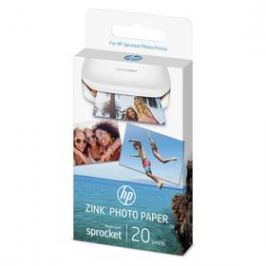 HP Zink Sticky-Backet Photo Paper A6, 20 listů (W4Z13A) bílý