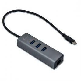 i-tec Metal USB-C/3x USB 3.0 + 1x RJ45 (C31METALG3HUB) stříbrný