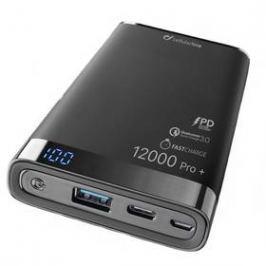 CellularLine Freepower Manta Pro+ 12000mAh, QC 3.0, USB-C (FREEPMANTA12QCCPDK) černá