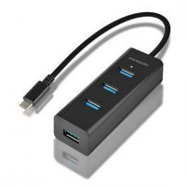Axagon USB-C / 4x USB 3.0, Micro USB (HUE-S2C) černý