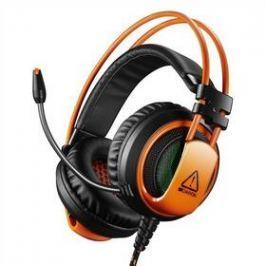 Canyon CND-SGHS5, USB + 3,5mm jack (CND-SGHS5) černý/oranžový