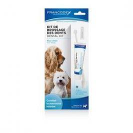 Zubní pasta Francodex Dental Kit 70 g + kartáček pes