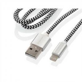 GoGEN USB / lightning, 1m, opletený, zkumavka (LIGHTN100MM24T) stříbrný