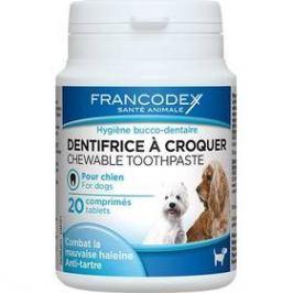 Žvýkací zubní pasta v tabletách Francodex pes 20 tbl