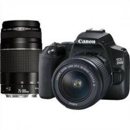 Canon EOS 250D + 18-55 DC + 75-300 DC (3454C016) černý