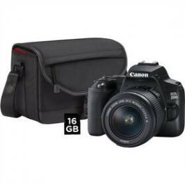 Canon EOS 250D + 18-55 + SB130 + 16GB karta (3454C010) černý