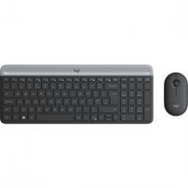 Logitech Wireless Combo Slim MK470 (920-009260) šedá