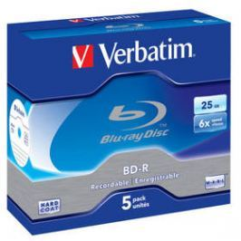 Verbatim BD-R SL 25GB, 6x, jewel box, 5ks (43715)