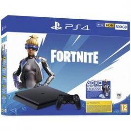Sony PlayStation 4 500 GB + Fortnite balíček 2000 V Bucks (PS719940104) černá