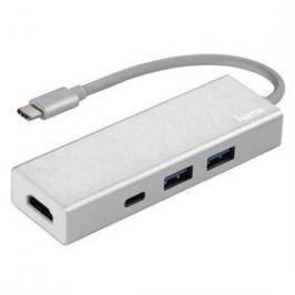 Hama USB-C/2x USB, USB-C, HDMI (135756) stříbrný