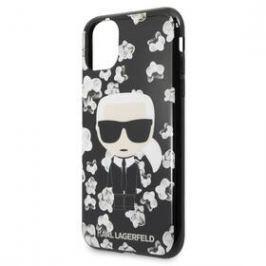 Karl Lagerfeld Flower pro Apple iPhone 11 Pro (KLHCN58FLFBBK) černý