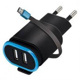Forever TC-02, 2x USB, micro USB kabel (ATC2USB24AMUKBKTFO) černá