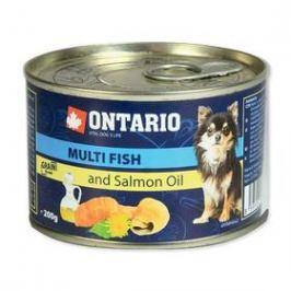 Ontario Adult Mini multi fish a lososový olej 200g