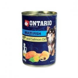 Ontario Adult Mini multi fish a lososový olej 400g
