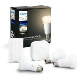 Philips Hue Bluetooth 9W, E27, White (3ks) + Switch, Bridge (8718696785232)