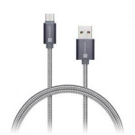 Connect IT Wirez Premium USB/USB-C, 1m (CI-665) stříbrný/šedý