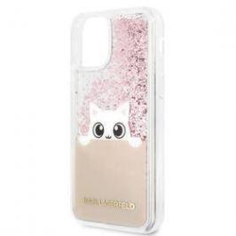 Karl Lagerfeld Glitter Peek and Boo pro Apple iPhone 11 (KLHCN61PABGNU) růžový
