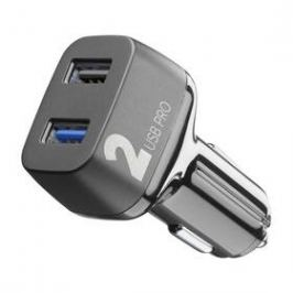 CellularLine Car Multipower 2 PRO, Smartphone Detect, 2 x USB, 36W (CBRUSB2QC36WK) černý