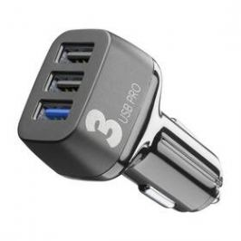 CellularLine Car Multipower 3 PRO, Smartphone Detect, 3 x USB, 42W (CBRUSB3QC42WK) černý