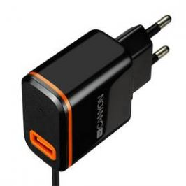 Canyon 1xUSB, USB-C kabel 1m (CNE-CHA042BO) černá
