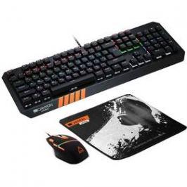 Canyon Nightflyer s podložkou pod myš, US layout (CND-SGS02-US) černá/oranžová