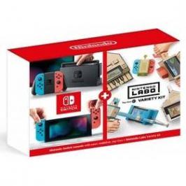 Nintendo Switch s Joy-Con v2 + Nintendo Labo Variety kit (NSH072) červená/modrá