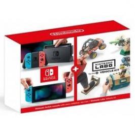 Nintendo Switch s Joy-Con v2 + Nintendo Labo Vehicle kit (NSH073) červená/modrá