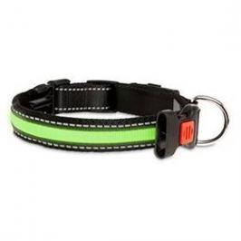 Karlie LED nylonový s USB nabíjením 66cm zelený