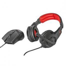 Trust GXT 784 headset + myš (21472) černý/červený