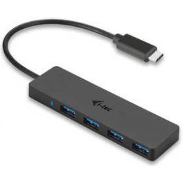 i-tec USB-C / 4x USB 3.0 (C31HUB404) černý