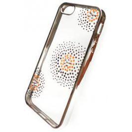 Beeyo Flower Dots pro Apple iPhone 5/5s/SE (BEAAPIP5TPUFLSI) stříbrný