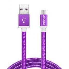 ADATA USB/micro USB, 1m, pletený (AMUCAL-100CMK-CPU) fialový
