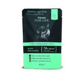 FITMIN for Life Cat Pouch Sterilized salmon 85 g