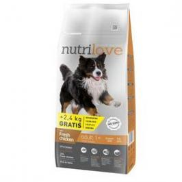 Nutrilove Dog dry Adult L fresh chicken 12kg + 2,4 kg ZDARMA