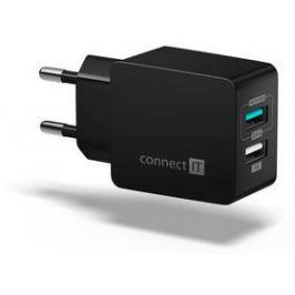 Connect IT Fast Charge 2x USB, 3,4A s funkcí rychlonabíjení (CWC-2015-BK) černá