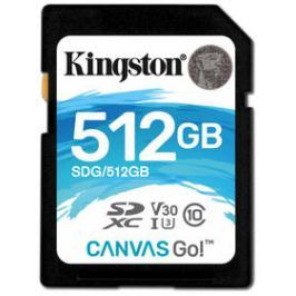 Kingston Canvas Go! SDXC 512GB UHS-I U3 (90R/45W) (SDG/512GB)