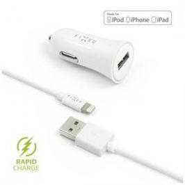 FIXED 1x USB, 2,4A + Lightning kabel (FIXCC-UL-WH) bílý